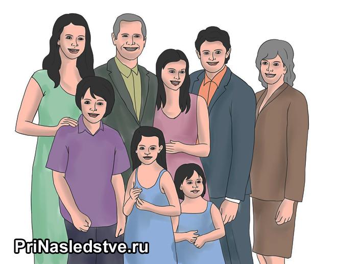Большая семья портрет