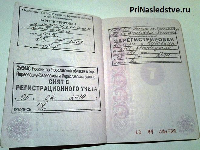 Прописка в паспорте