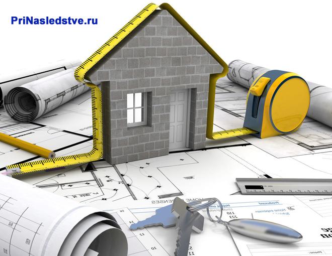 План частного дома на чертежах