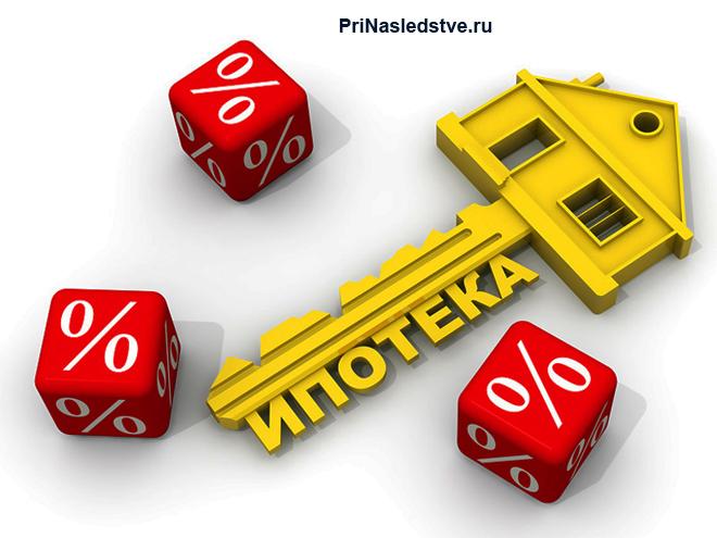 Золотой ключ, кубики с процентами