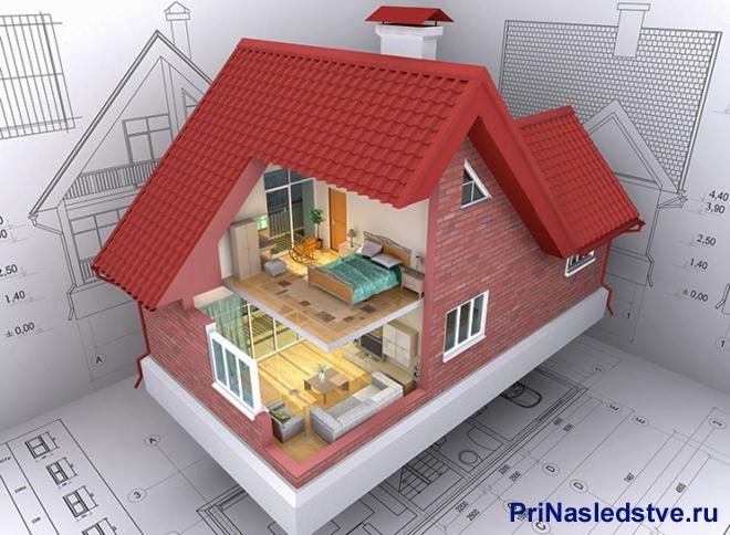 Макет дома и план