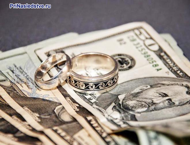 Бумажные купюры, кольца
