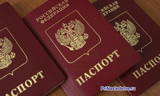 Три паспорта граждан РФ