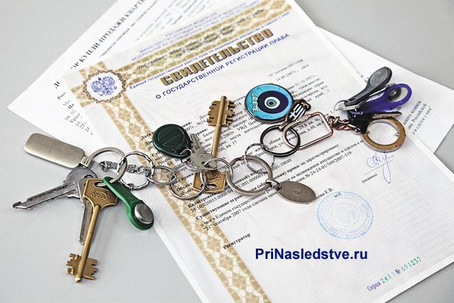 Бланки свидетельств, много ключей