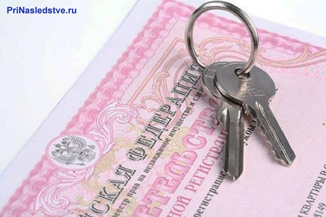 Свидетельство на розовом бланке, ключи