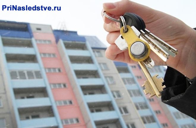 Человек держит в руке ключи от квартиры