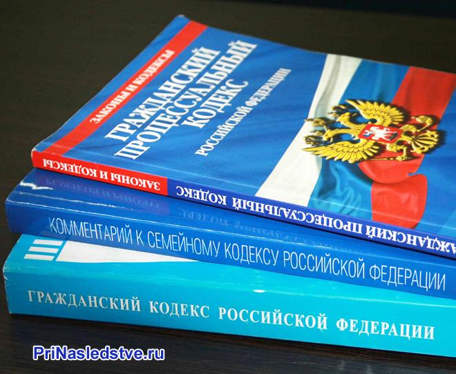 Три книжки Гражданского кодекса РФ