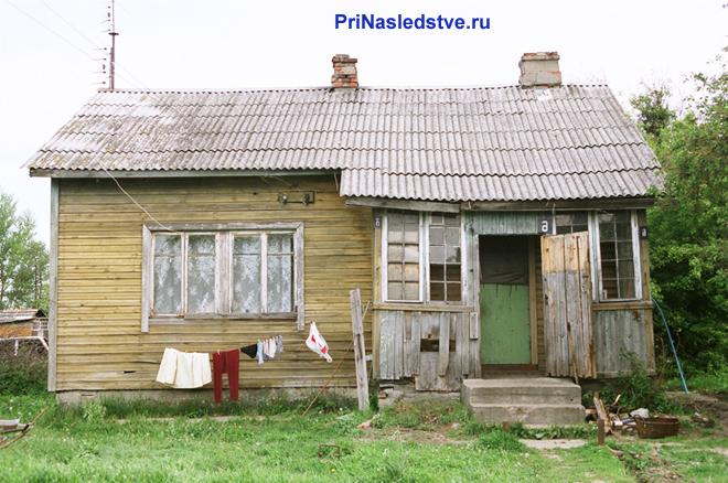 Старый частный дом